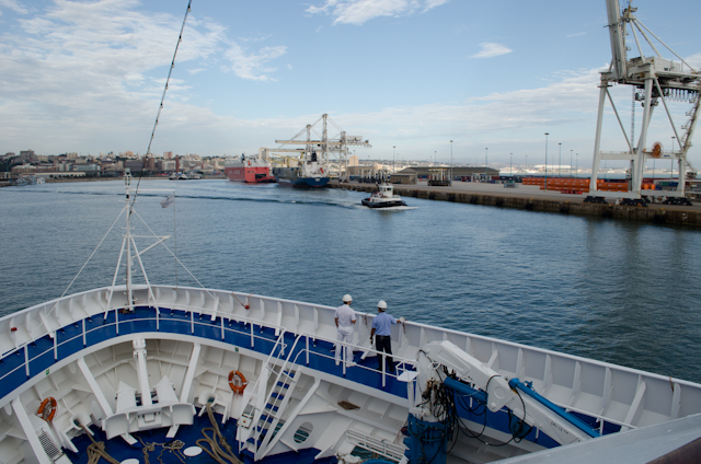Arrival into Port Elizabeth aboard Silversea's beautiful Silver Wind! Photo © 2013 Aaron Saunders
