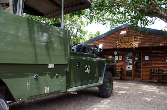 One of the 4xx4 vehicles outside the main Addo Elephant National Park entrance. Photo © 2013 Aaron Saunders