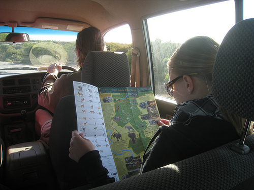 Karin reviews the park's wildlife